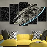 Wall decor Canvas Picture Star Wars Batman Poster 5 Pieces Art Home Framed HD Printed canvas painting (40x60cmx2,40x80cmx2,40x100cmx1)