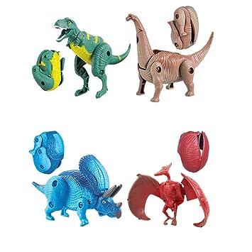 TianranRT Mini Transforma Dinosaurio Juguetes Simulación ...