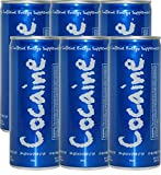 Cocaine Mild Flavor Energy Drink Can (6 pack) of 8.4 oz. - Blue Cans