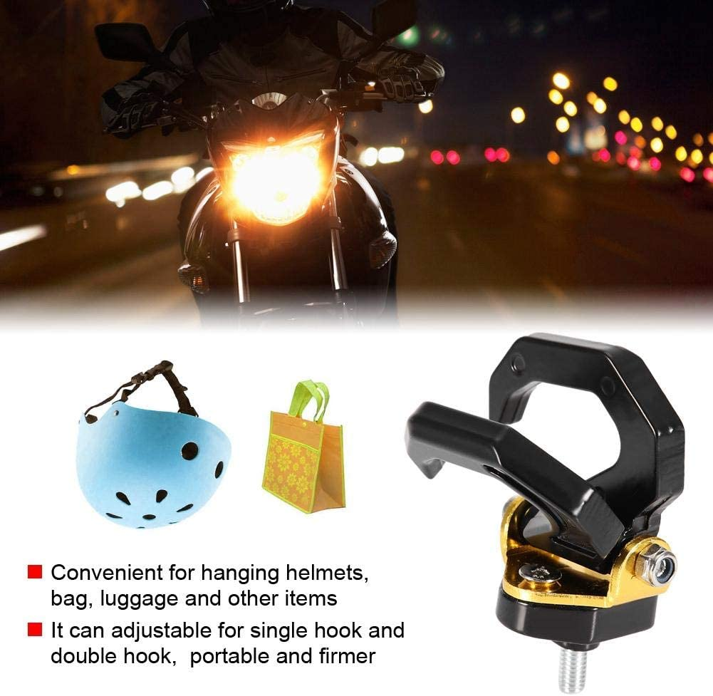 Duokon Universal Motorcycle Modified Aluminium Alloy Double Support Hook Replacement Aluminum Motorcycle Hook