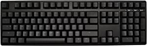 iKBC TD108 Blue Backlit LED Mechanical Keyboard with Cherry MX Red Switch for Windows/Mac, Full Size Computer Keyboards, Black Case, Black PBT Doubleshot 108 Keycaps, ASIN/US QWERTY