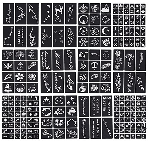 Tattoo Stencil - Various patterns - New Henna Designs- Set of 12