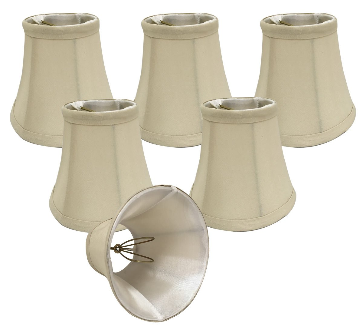 Royal Designs CSO-1023-5BG-6 Chandelier Lamp Shades, 3'' x 5'' x 4.5'', Beige