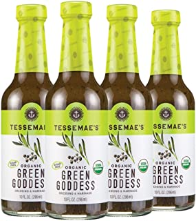 product image for Tessemae's Organic Green Goddess Dressing and Marinade, Whole30 Certified, Keto Friendly, USDA Organic, 10 fl oz. bottles (4-Pack)
