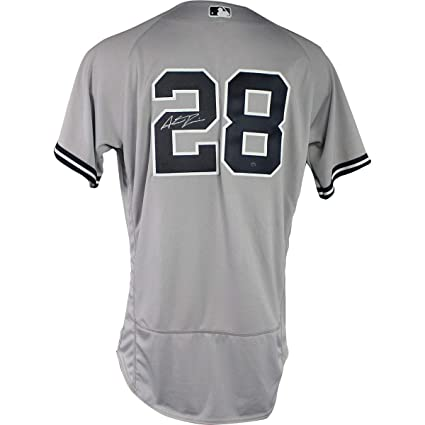 sale retailer b4943 74ea6 Austin Romine Autographed Signed New York Yankees 2018 Road ...