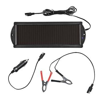 Solar Batería Cargador Batterielader Cargador 12 V: Amazon ...