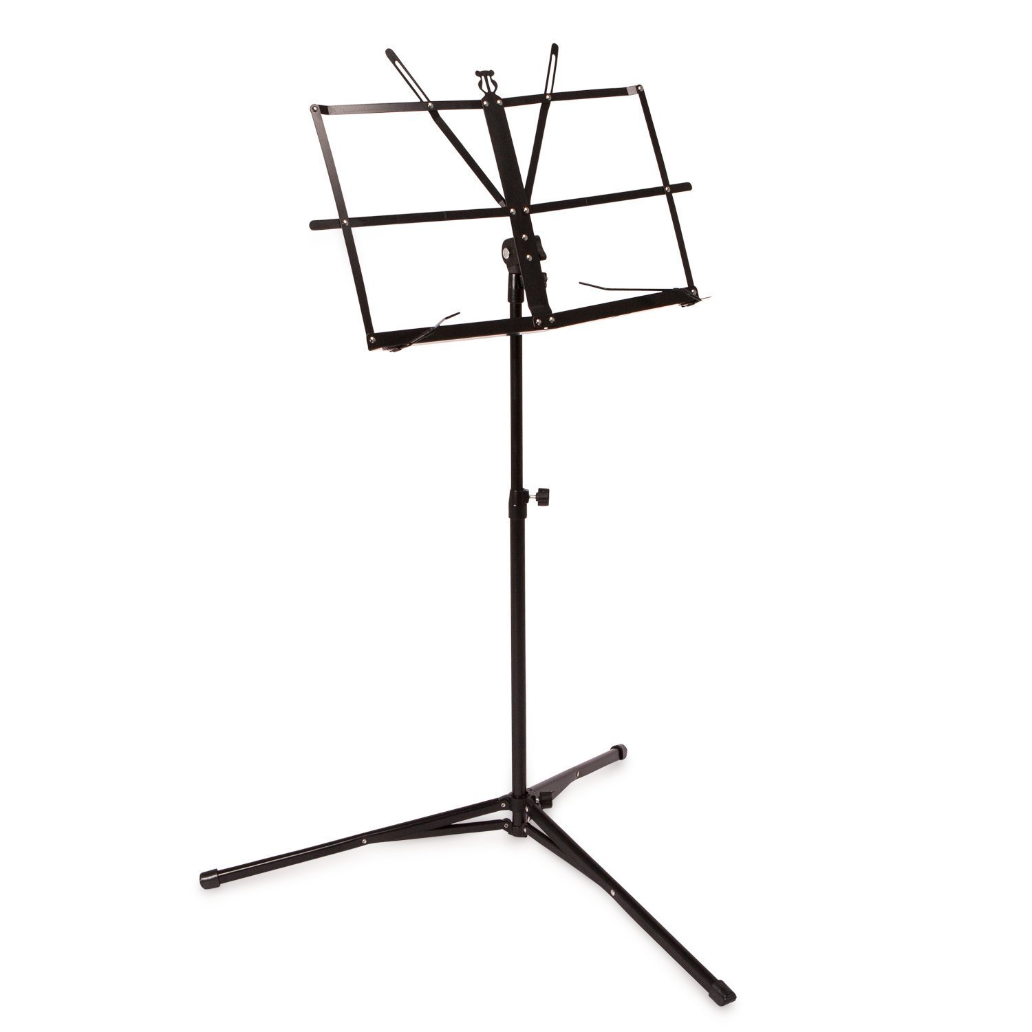 Crafty Gizmos Black Adjustable Folding Music Stand with Carrying Bag MS20BK