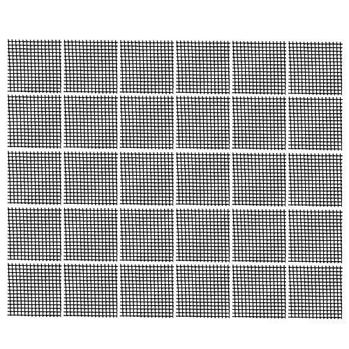 Bluecell 30pcs Plastic Flower Pot Hole Mesh Pad Bonsai Bottom Grid Mat, 2 x 2inches