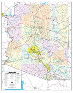Amazoncom Arizona State Wall Map Material Laminated Current - Az state map