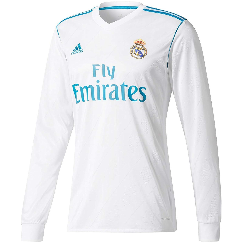 hot sale online 8ddb8 bae1b Amazon.com : adidas Real Madrid Kids Long Sleeve Home Shirt ...