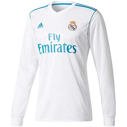 huge selection of a03eb 8a3fa adidas Real Madrid Kids Long Sleeve Home Shirt 2017 18-7-8 Years