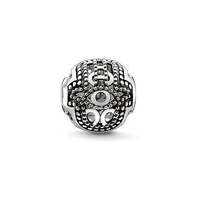 Thomas Sabo Women Men-Bead Kathmandu Karma Beads 925 Sterling Silver blackened K0008-001-12 idy131y