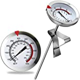 "12"" Mechanical Meat Thermometer Instant Read, Long Stem, Waterproof, No Battery Required, Stainless Steel Deep Fry…"