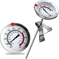 """8"""" Mechanical Meat Thermometer Instant Read, Long Stem, Waterproof, No Battery Required, Stainless Steel Deep Fry…"""