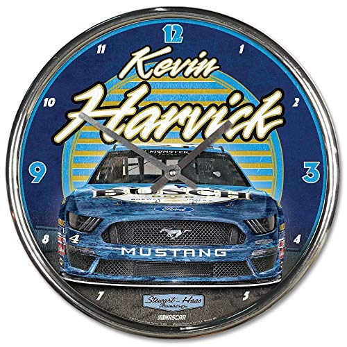 Win-craft Kevin Harvick 2019 Busch Chrome Plated NASCAR Wall Clock from WinCraft