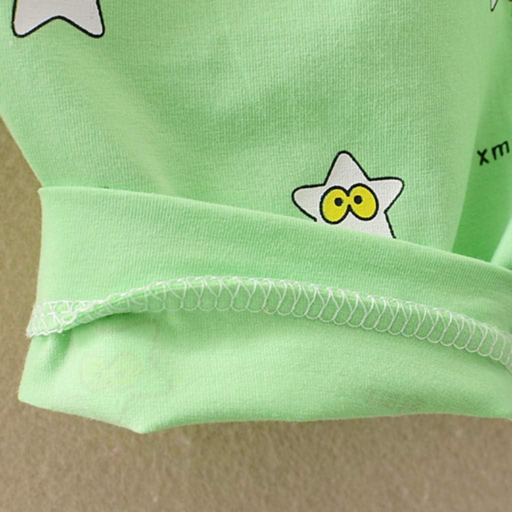Mbby Tuta Bambina Estivi,3-24Mesi Estate Completino Neonato Ragazza 2 Pezzi Tute in Cotone Maglietta Stampa Senza Manica Pantaloncini Set Fumetto Outfits