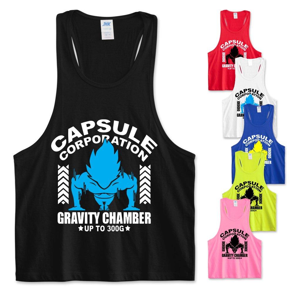 Be Impress Canotta canottiera vogatore palestra fitness allenamento uomo donna unisex Grafica Goku Vegeta Super Saiyan Capsule Corp