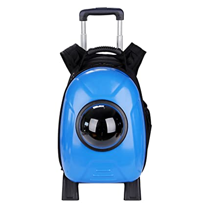 Astronaut Rolling Pet Carrier Foldable Travel Bag Breathable Home/Outdoor Waterproof Space Capsule Backpack.