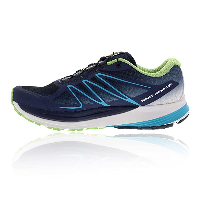 Amazon.com | Salomon Women's Sense Propulse Running Shoe, Slate Blue/White/Fresh  Green | Trail Running