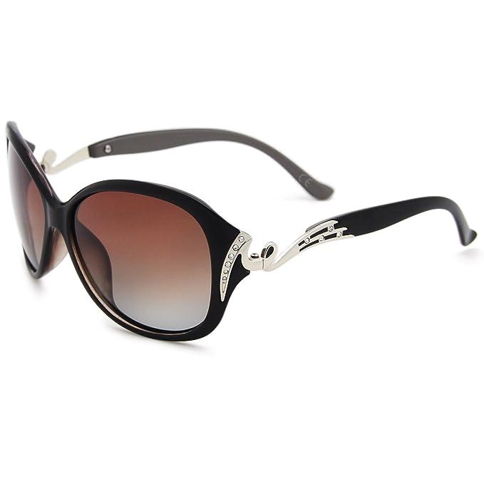 AMZTM Trend Mode überdimensioniert Polarisiert Damen Sonnenbrille Klassisch Strass Fahren Brille 5pBIgb