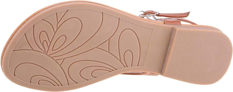 cazuer Open Toe Flat Sandals Slingback Ankle Strap Flip Flops for Women