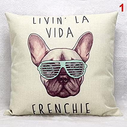Amazon.com: 45x45cm frenchie polyester cushion wihtout inner ...