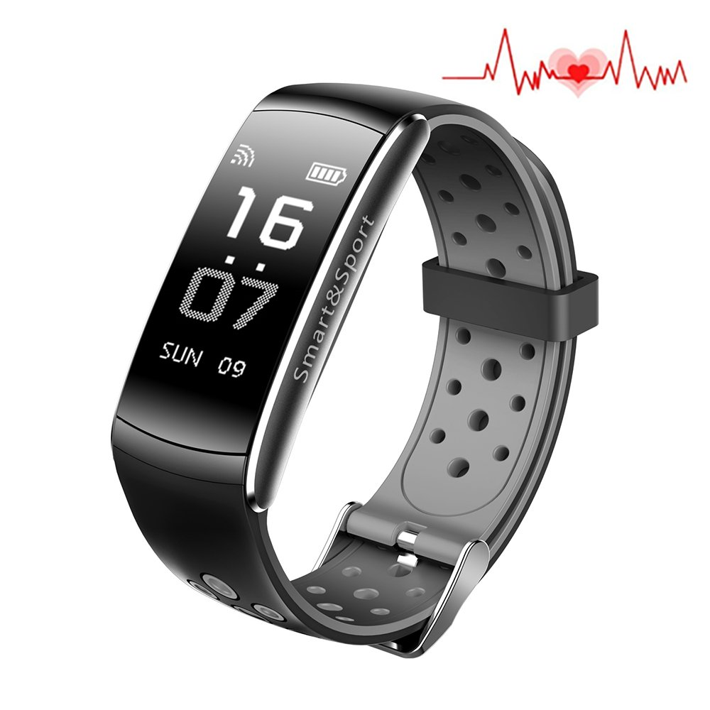 huangcaho inc Fitness Tracker, Smart Watch 4 sports Mode, Heart Rate Monitor IP67 Waterproof Activity Health Tracker, Sleep & Blood Pressure sleep Monitor, Calorie/Step Counter for IOS Android