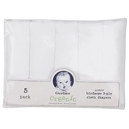 Gerber Organic Birdseye Prefold Cloth Diaper, 5 Count by Gerber: Amazon.es: Bebé