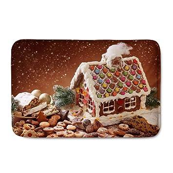 Weihnachtsdeko Haustür.Polero Fußmatten Weihnachten Schmutzfangmatte Weihnachtsmatte Fußmatte Für Haustür Wohnzimmer Als Weihnachtsdeko Lebkuchen Haus