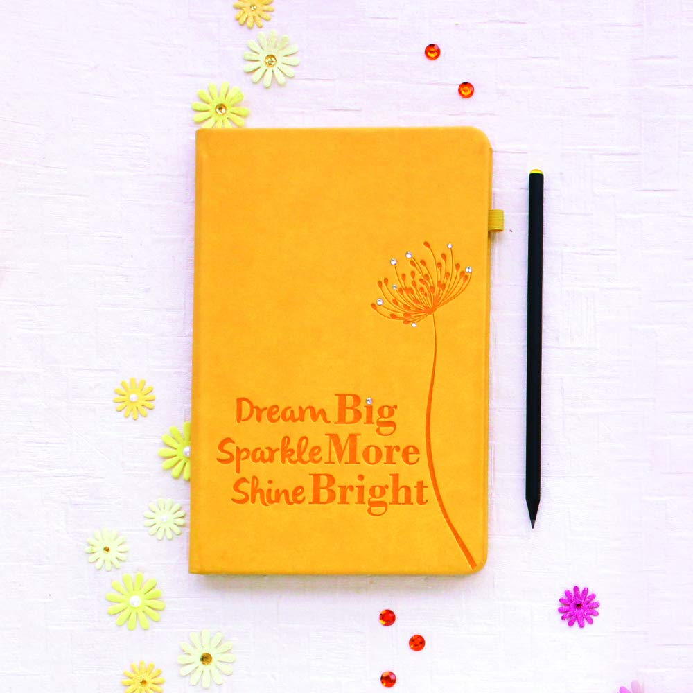 Doodle Glitterati Notebook,Pu Leather, Hard Cover,Ruled, 200 Pages, A5 (8.5''X 5.5'') (Multi-Colour)
