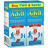 Children's Advil Suspension (8 fl. oz, Grape-Flavored), 100mg Ibuprofen Fever Reducer/Pain Reliever, Liquid Pain Medicine, Ages 2 – 11