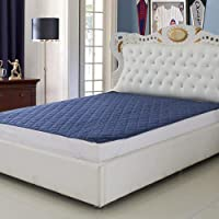 Blanket House Home Care Waterproof Polyfill Double Bed King Size Mattress Protector (72X78-Inches; Blue)