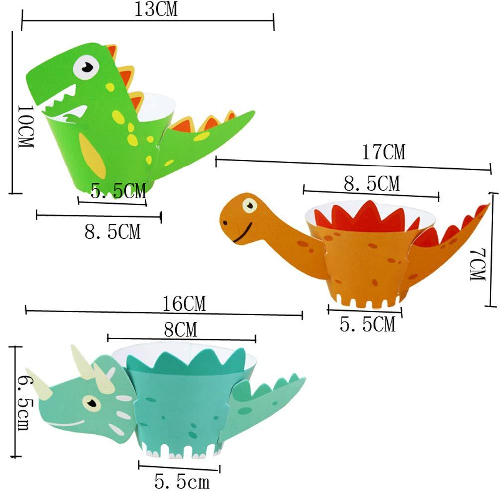 ED-Lumos Pirottini per cupcake a forma di dinosauri confezione da 24 pezzi