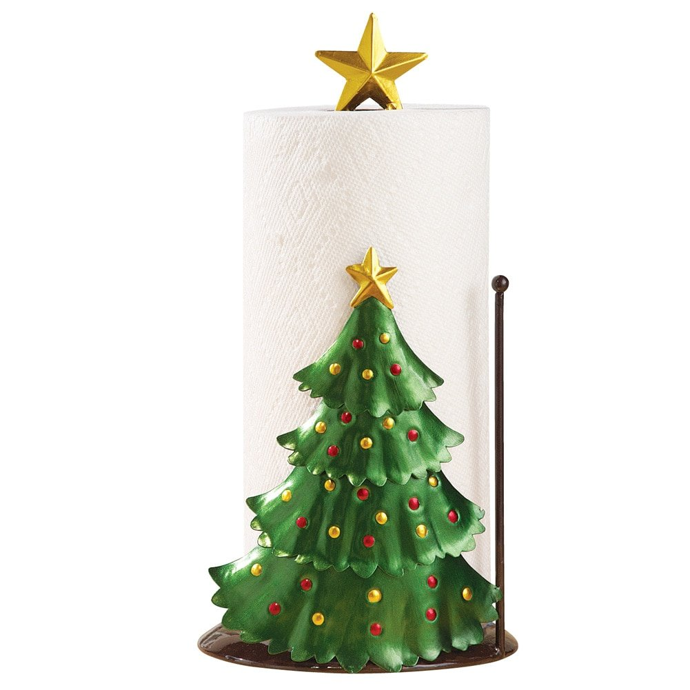 Christmas Kitchen Decoration - Christmas Tree Paper Towel Holder Collections Etc
