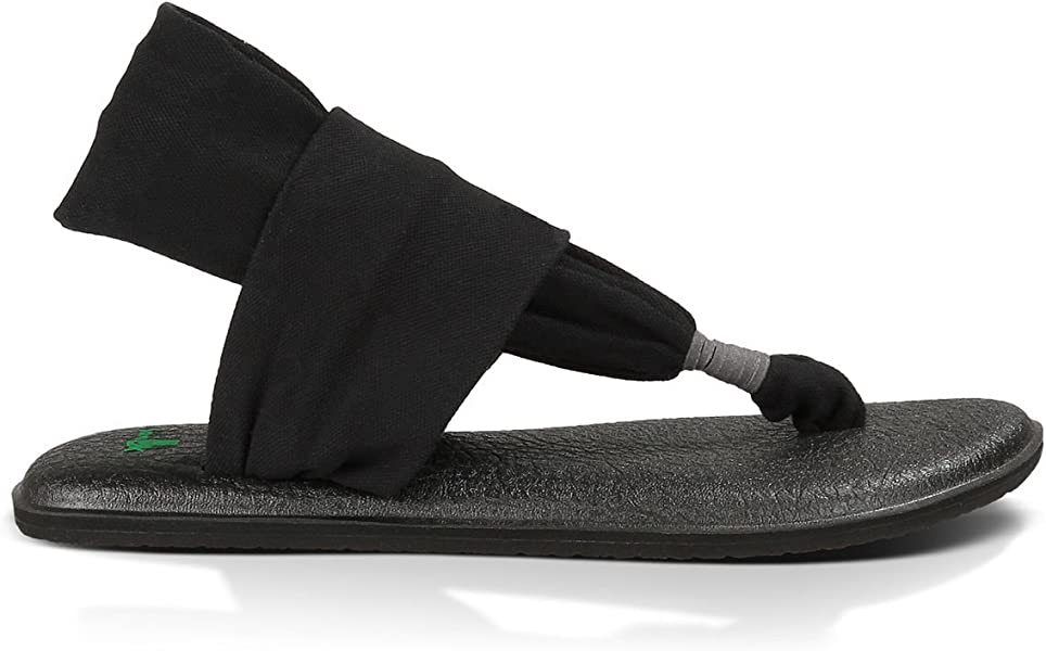 Womens Yoga Sling 2 Flip-Flop (7 B(M) US, Black)