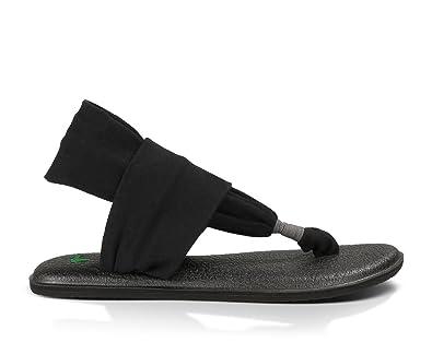 Sanuk . Womens Yoga Sling 2 Flip-Flop (9 B(M) US, Black)