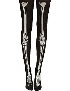 6a9b0012606 Cool Women Girls Pantyhose Punk Skull Bones Printing Velvet Tights ...