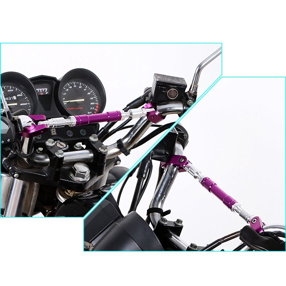 Motorbike Grips Handle Bar Ocamo Universal 22mm Motorcycle Handlebar Adjustable Cross Bar Golden Steering Wheel Strengthen Aluminum Alloy Brace