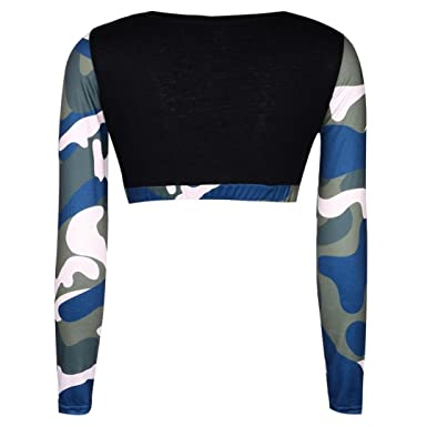 46e188a878253f HOMEBABY Women Camouflage Crop Tops+Pants Set