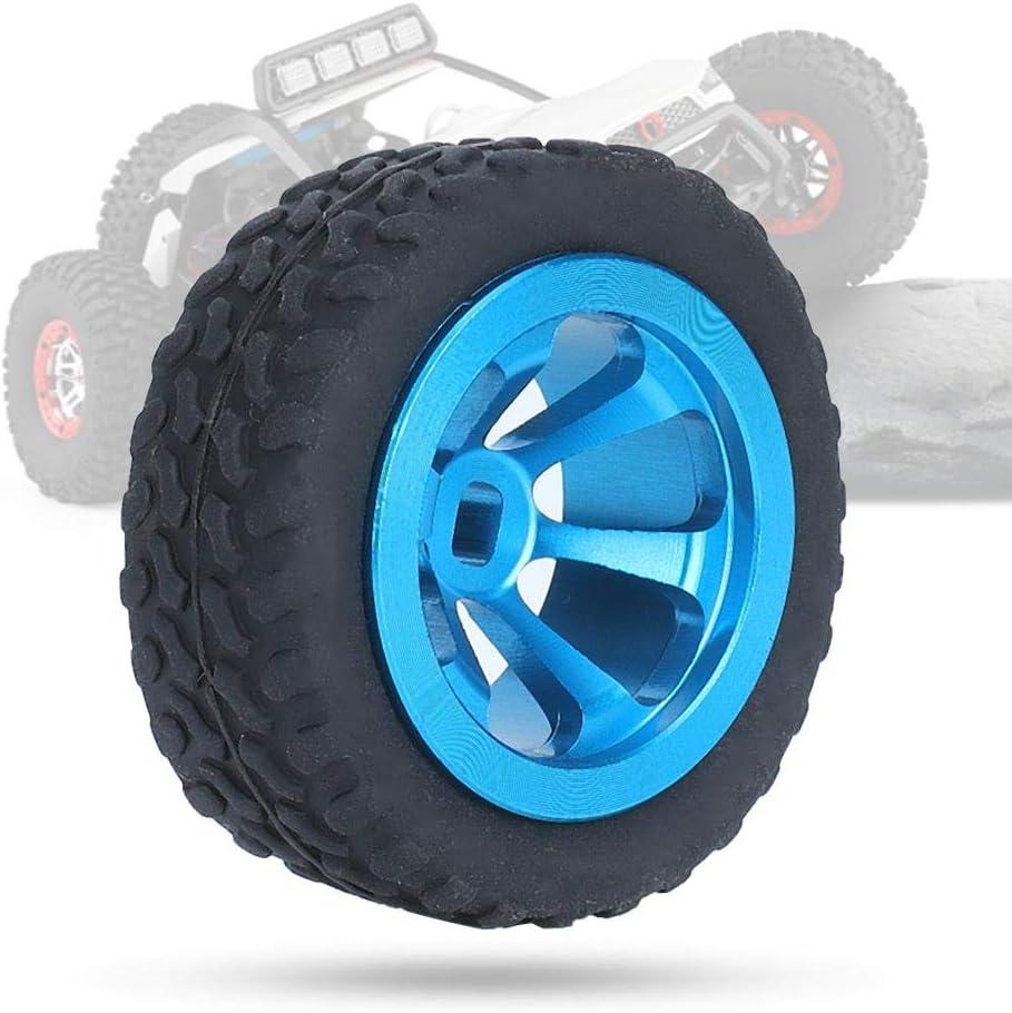 Blau Rad Reifen Gummireifen Mit Aluminium Nabe Kompatibel mit WLtoys K969 RC Auto Spielzeug Dilwe RC-Auto-Gummireifen