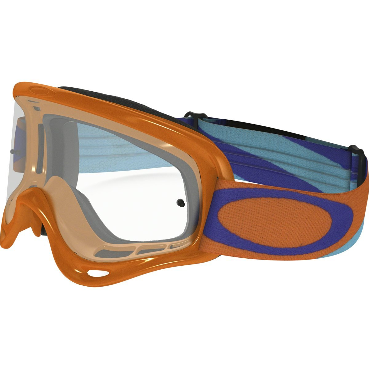 Oakley XS O MX Heritage Racer Adult Off-Road Motorcycle Goggles Eyewear - Orange/Clear / One Size Fits All
