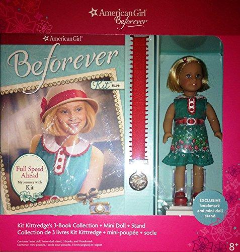 American Girl Doll Beforever Kit Kittredge Mini Doll & 3 book Collection