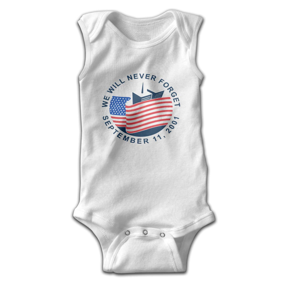 CZDewQ80 Newborn We Will Never Forget Sleeveless Baby Clothes Romper Jumpsuit 100/% Cotton