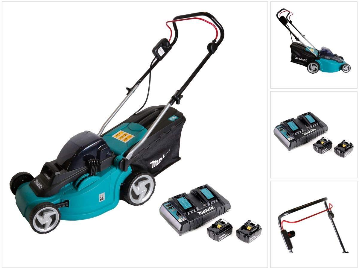 Makita DLM 380 - Cortacésped eléctrico (2 baterías BL 1840 de 18 V ...