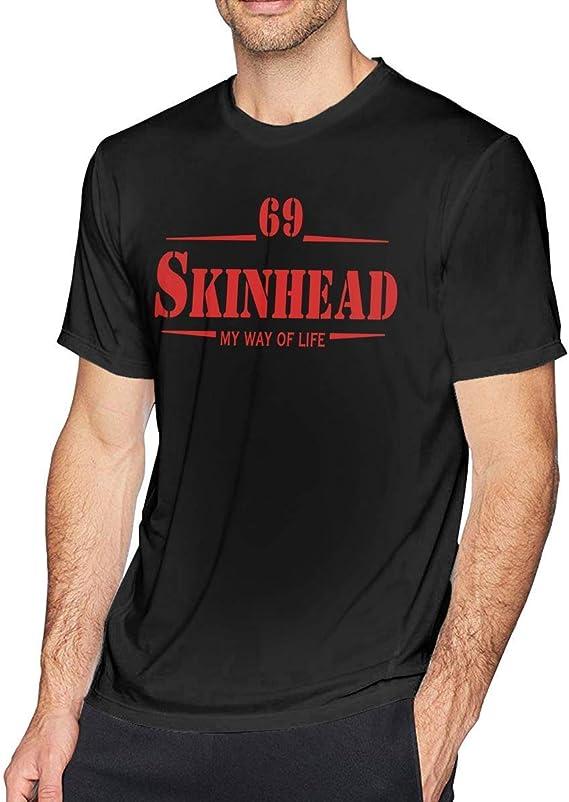 flys Jianju Mens Custom Skinhead 69 My Way of Life O-Neck Comfortable Tshirts Black: Amazon.es: Ropa y accesorios