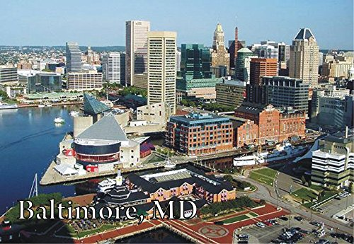 Baltimore, Maryland, City Skyline, Harbor, MD, Magnet 2 x 3 Photo Fridge - Airport Baltimore In Maryland