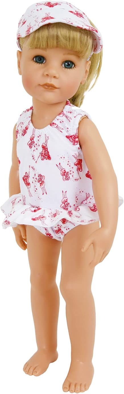 FRILLY LILY Dolls Fairy Print swimming costume with Sun Hat