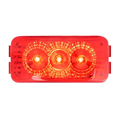 GG Grand General 77952 Red/Red LED Light (Small Rectangle Spyder 3, Lens): Automotive