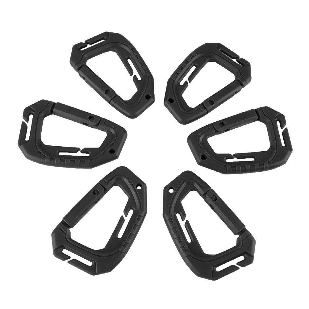 Sharplace 24KN Outdoor Rock Climbing Aluminum Alloy D-ring Carabiner Grey Color Non Locking