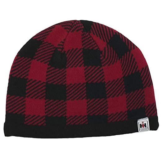 550b87ebdcb8e Image Unavailable. Image not available for. Color  IH Red Buffalo Plaid  Knit Beanie - Officially Licensed